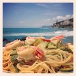 Spaghetti con Code di Gambero e Zucchine al Profumo di Curry