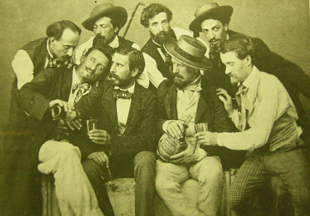 Alcuni esponenti del movimento dei Macchiaioli