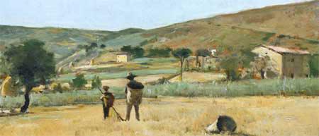 Paesaggio del Gabbro con contadini