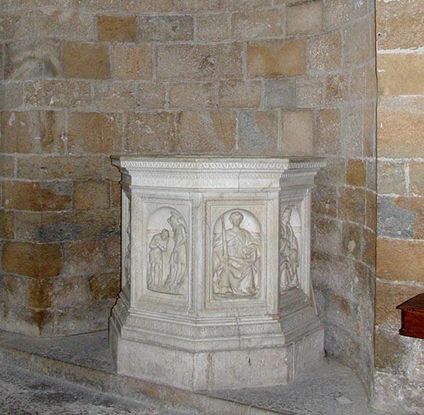 Il fonte battesimale degli inizi del XVI