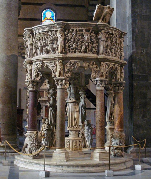 Pulpito del Duomo di Giovanni Pisano